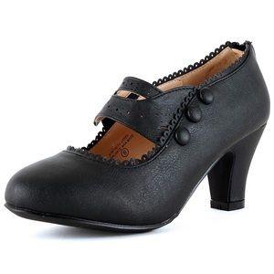 👠Women's Size 8.5 Mary Jane Retro Heel Pumps👠